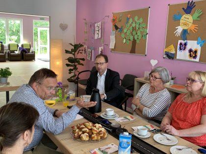 Marcus Conrad zu Gast in der Tagespflege Wörrstadt