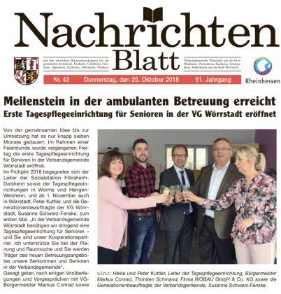 Eröffnung der Seniorenbetreuung in Wörrstadt